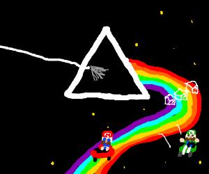 The dark side of rainbow road