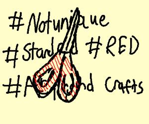 standard red scissors
