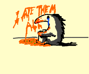 An anteater ate almost all ants and aphids