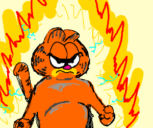 Garfield goes super saiyan