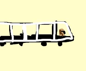 Bean driving a limousine