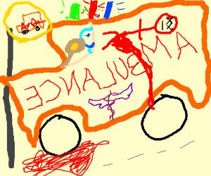 Badly drawn Van/Ambulance