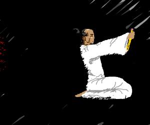 seppuku with pencil