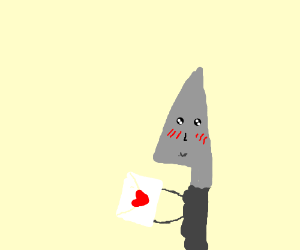 Knife-kun recieves a love letter