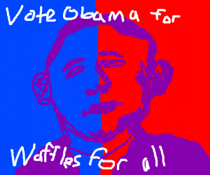 Vote for Obama and everyone gets waffles!