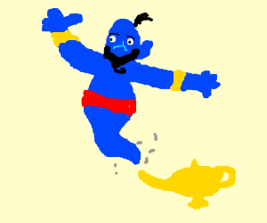 Genie from Aladdin is freed