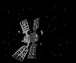 Satellites crashing into each other