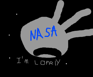 space satellite is lonely
