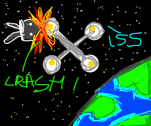 Satellite hits Mir space station - OH NO!