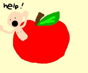 Man stuck in apple needs help