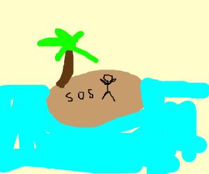 stuck on a island