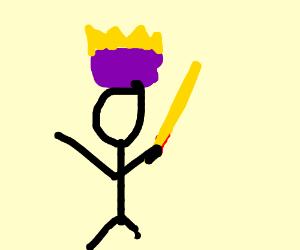 royal dude has an awkward sword
