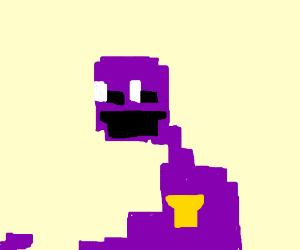 pixelated alien