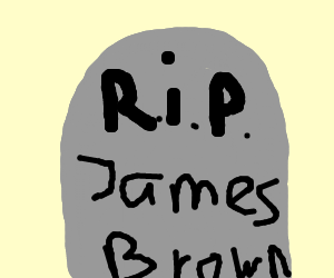 James brown's tombstone