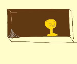 Nearly Empty Trophy Shelf