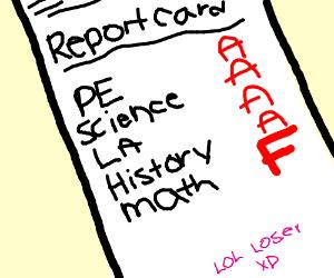 F Report Card