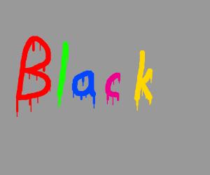 """Black"" spray painted on gray"