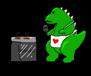 Cooking with dinosaurs