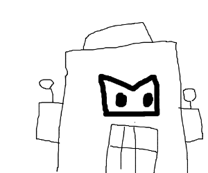 Angry stereotypical robot