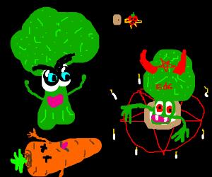 Wicked broccoli summons Broccolucifer