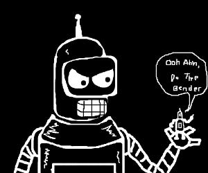 Bender on a huge bender