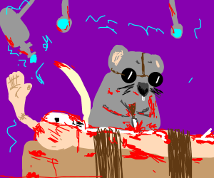 Rats are rulingthe lab with lotsof blood round