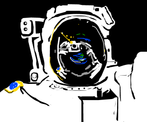 Astronaut has a moment of reflection in orbit