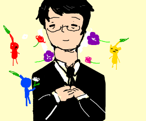Iwata's funeral attended by Pikmin