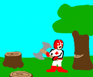 maple man cuts trees