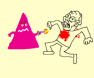Triangle Man kills an old dude.