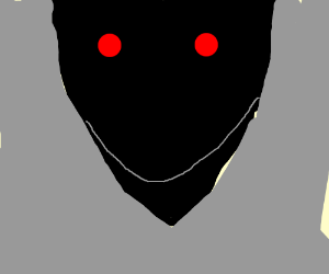 red eyes, black demon