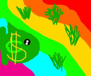 money fish visits the rainbow desert