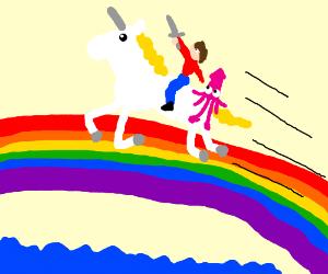 Unicorn, squid, & me: to Valhalla!