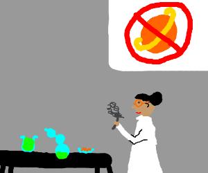 No orange planets in science lab