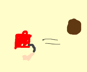 gasoline can makes brown balloon