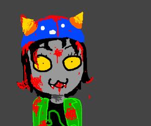 A blood soaked Nepeta Leijon