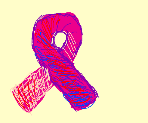 Pink support ribbon