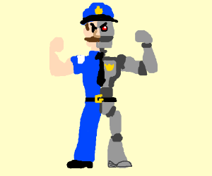 Half man... Half machine... All cop.