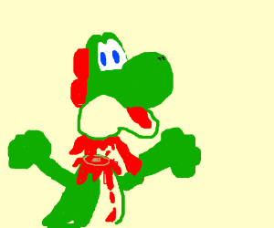 Yoshi has been decapitated