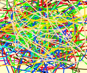 colorful spaghetti