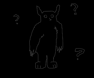 Owlbear in the dark is confused.