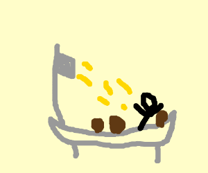 Golden shower but with potatos