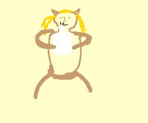 Catbox girl huffing propane