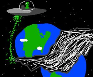 Alien tear a rift in reality