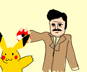 Ron Swanson and Pikachu