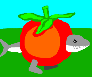 Land shark pretending to be a tomato