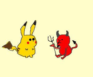 Pickachu and demon