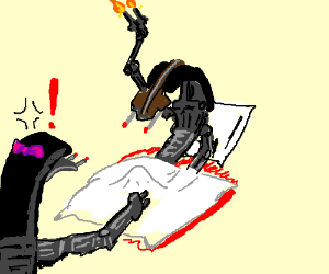 Droideka in an odd situation