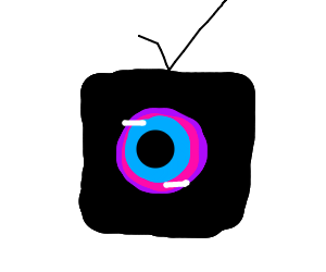The electronic eye in the tv