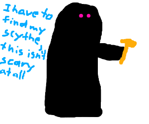 Grim reaper lost scythe,uses hammer instead